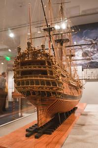 2009-10-03 - USNA Museum - 084 - Royal William - 1st Rate 100-Gun Ship of 1719 (stern) - _DSC7475